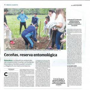 10-06-2018 El Diario Montañes: Ceceñas, reserva entomológica