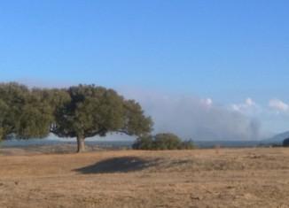 Vista del Incendio desde la Reserva de Campanarios de Azaba