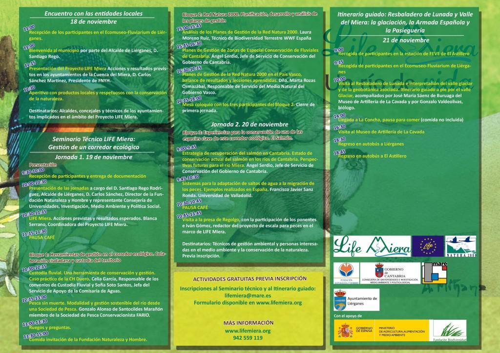 Programa Semana LIFE Miera 2015