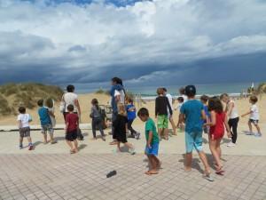 Recuperación de las dunas de Somo con Pequesurf
