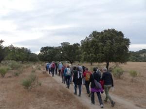 Los visitantes holandeses, durante su recorrido por la Reserva.