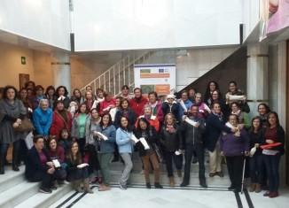 Foto de grupo de los participantes en el taller de Pinofranqueado
