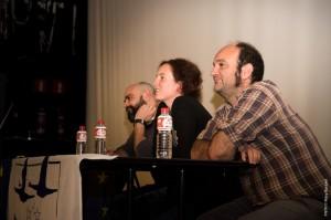 Los codirectores y el coordinador del LIFE Anillo Verde respondiendo a las preguntas