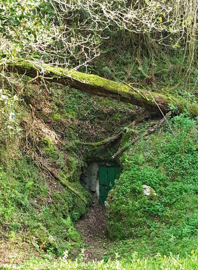 Acceso a la cueva del Juyo.