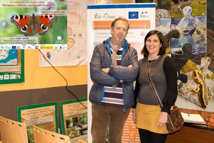 El naturalista Jorge Garzón y la coordinadora del proyecto LIFE Miera Blanca Serrano