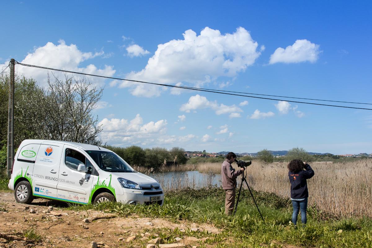 Vehículo eléctrico Bahia Santander_LIFE Anillo Verde: conectando la naturaleza y la ciudad.