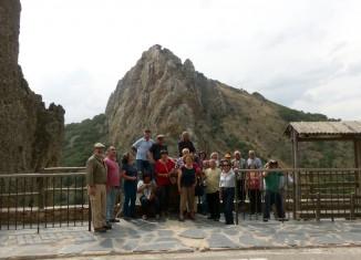 Los participantes en la visita por el Parque Nacional de Monfragüe
