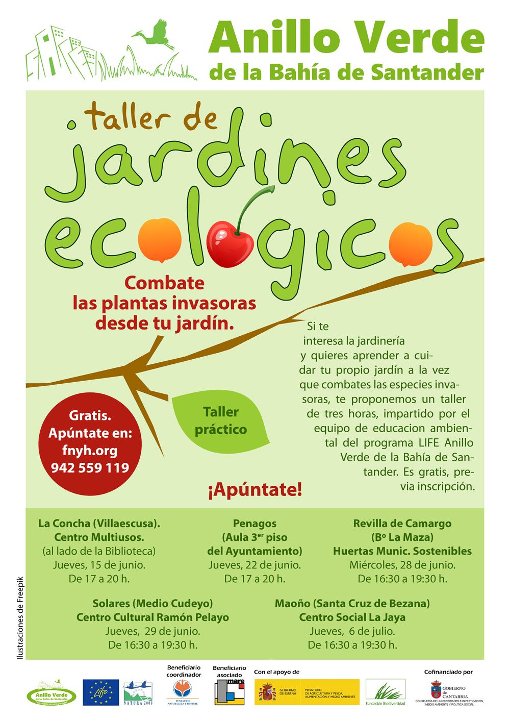Talleres Jardines Ecológicos del Proyecto LIFE Anillo Verde de la Bahía de Santander