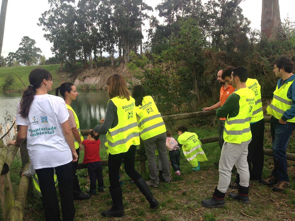 Presentación de la reserva municipal Pozón de la Yesera en Jornada Voluntariado Medioambiental Cajaviva, Ríos Vivos con Fundación Oxígeno