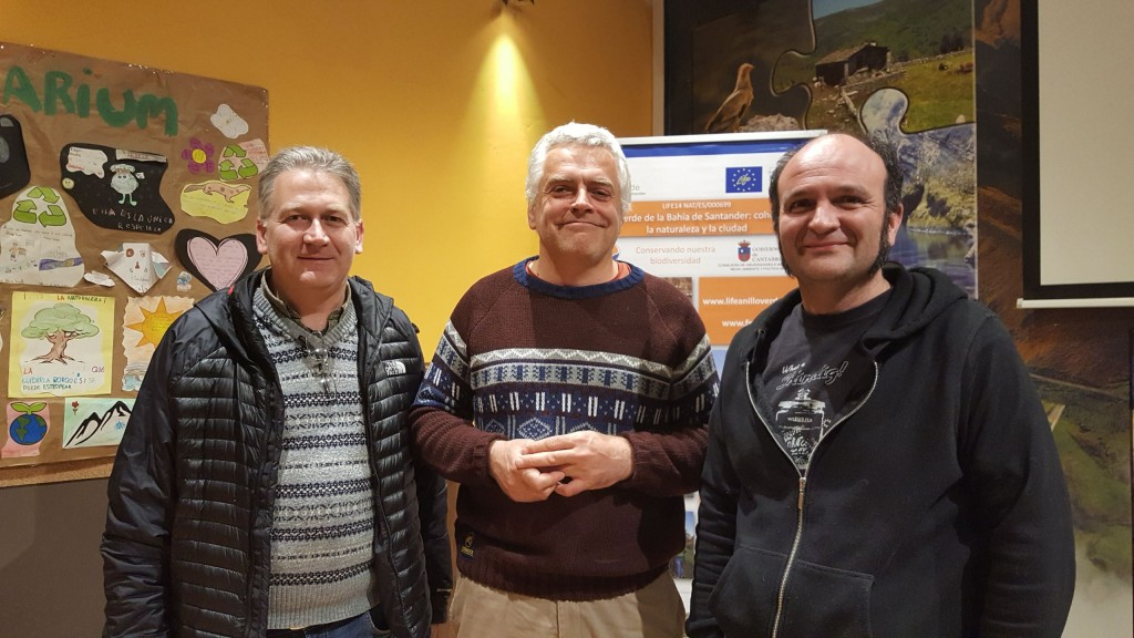 Los Viernes del Fluviarium, Presidente de FNYH, investigador del CIFA Juan Busqué Marcos y el Coordinador del Anillo Verde de la Bahía de Santander