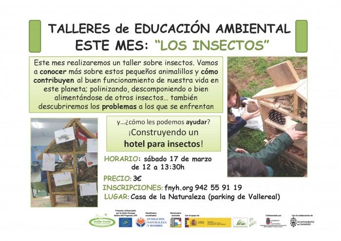 Taller de Educación Ambiental: Los insectos, bichos a tu alrededor. Casa Naturaleza Humedales del Anillo Verde, marisma de Alday el 17 marzo 2018
