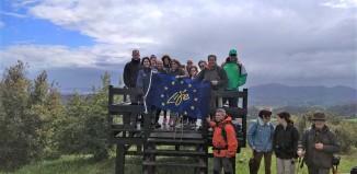 Foto de los participantes desde el mirador