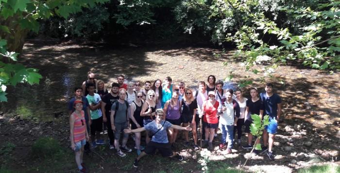Voluntarios europeos en el Miera