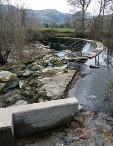 Escala para peces en la presa de El Arral.