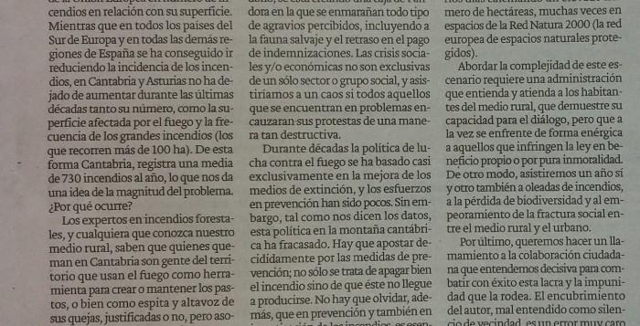 Editorial Incendios Cantabria