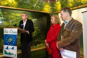 Santiago Rego, alcalde de Liérganes, en la presentación de resultados del LIFE Miera