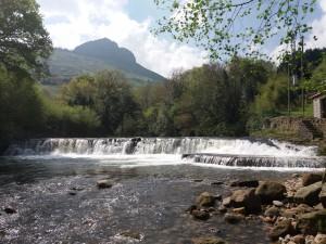 Salto para salmones en la presa de Rubalcaba (Liérganes).