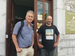 Carlos Sánchez (FNYH) y Amador Prieto (Lurgaia).