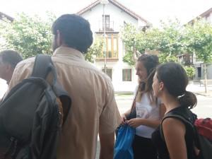 Con Corelié, voluntaria ERASMUS.