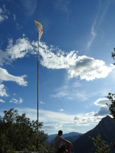 Monte Pando bandera