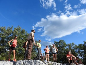 En la cumbre del Monte Pando.