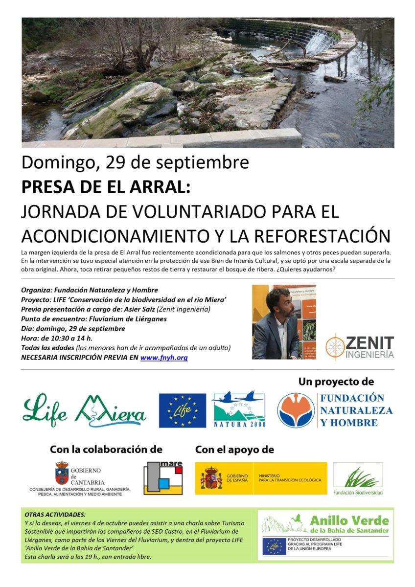 Jornada de voluntariado en la presa de El Arral