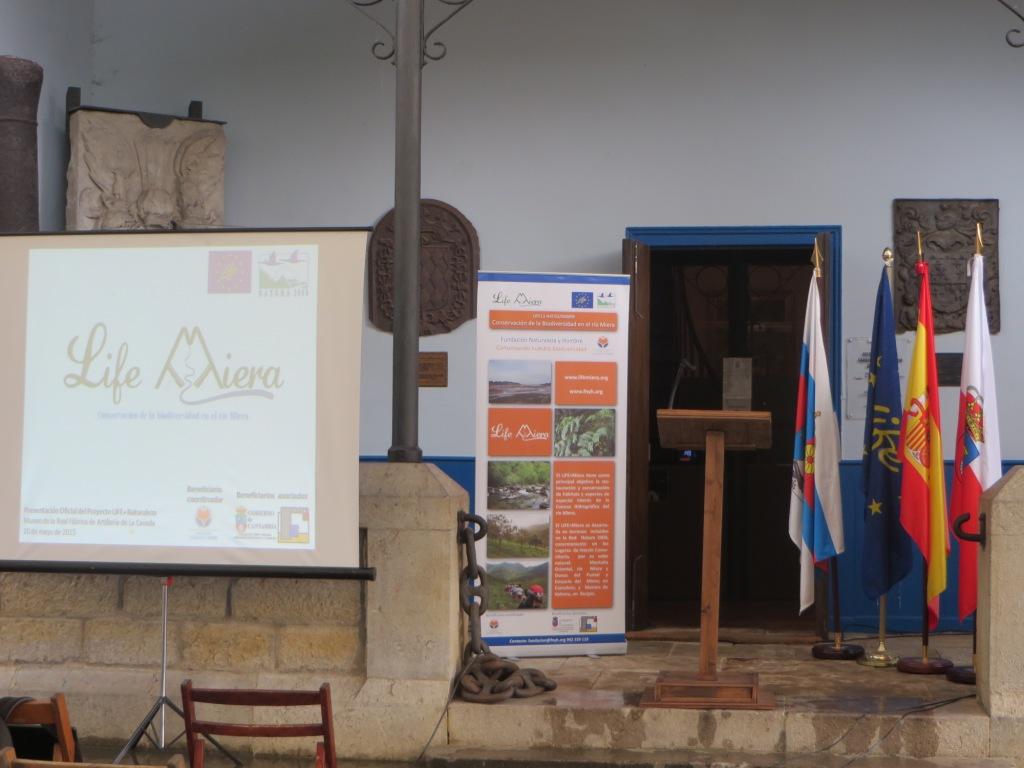 Presentación LIFE Miera, Museo de los Cañones de La Cavada