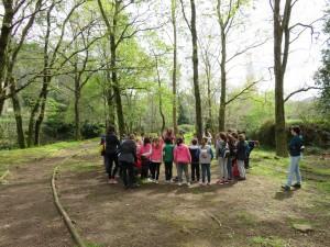 Ginkana de escolares tras la visita al Fluviarium