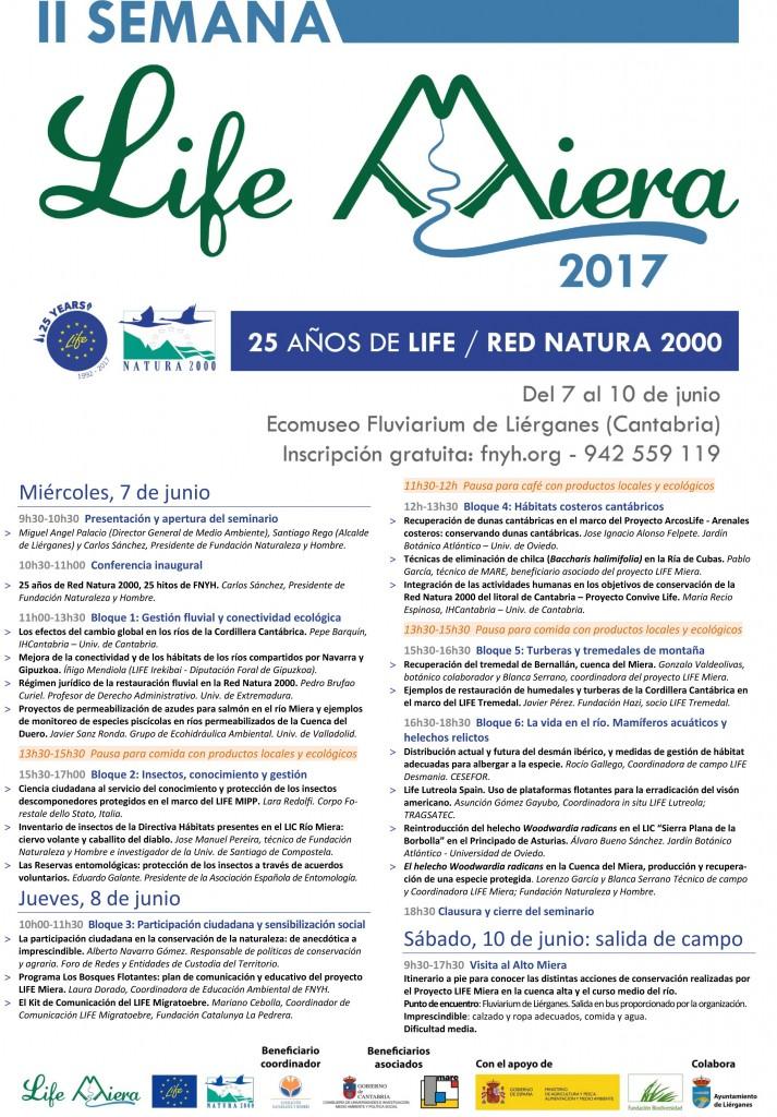 Programa II Semana LIFE Miera. Del 7 al 10 de junio de 2017
