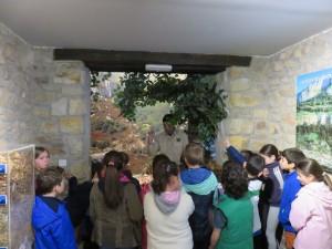 Visita guiada de escolares en el Fluviarium