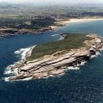 La Isla de Santa Marina, desde el aire.