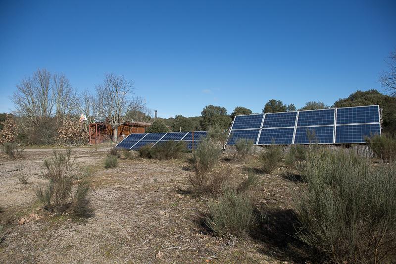 placas solares oficina, estación biològica