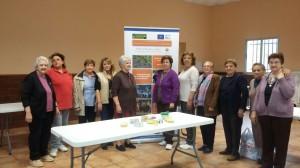 Foto de grupo del taller en Higuera de Albarat.
