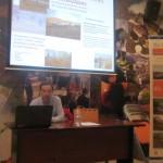 Miguel Ángel Toca, durante su charla en el Fluviarium.