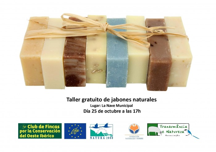 Taller de jabones naturales en Higuera de Albarat.