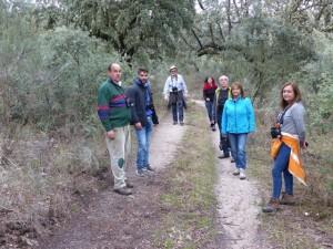 Los participantes, durante el recorrido.