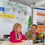 Eva Díaz Tezanos y Carlos Sánchez, durante la rueda de prensa