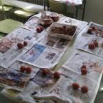 Bolas de semillas preparadas por las alumnas.