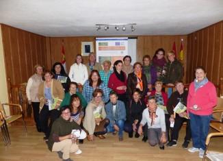 Foto de las participantes en el taller de Robleda