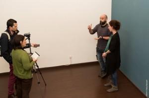 Los productores Alba Azaola y Daniel Carrasco durante la entrevista