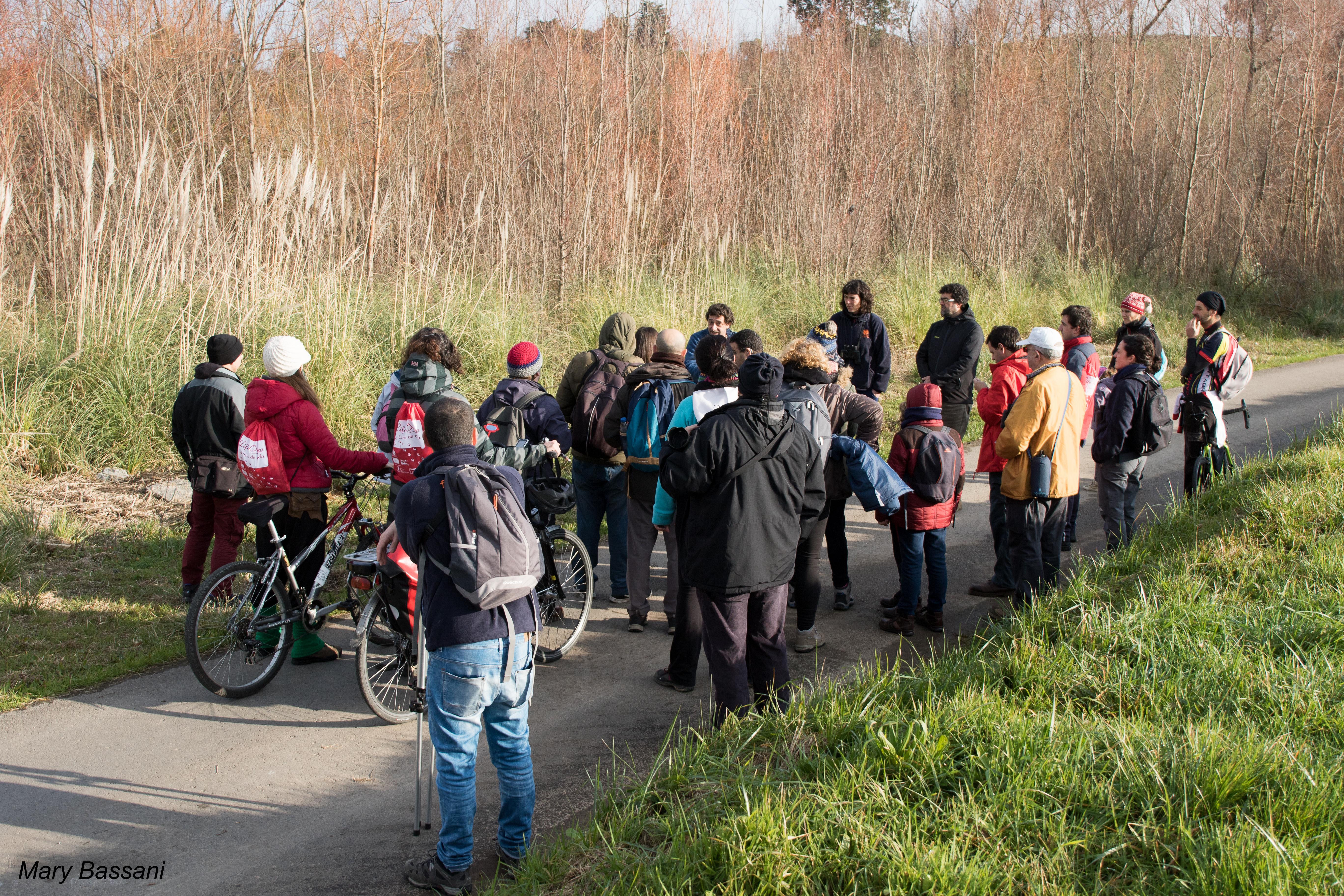 El grupo de los participantes en la ruta