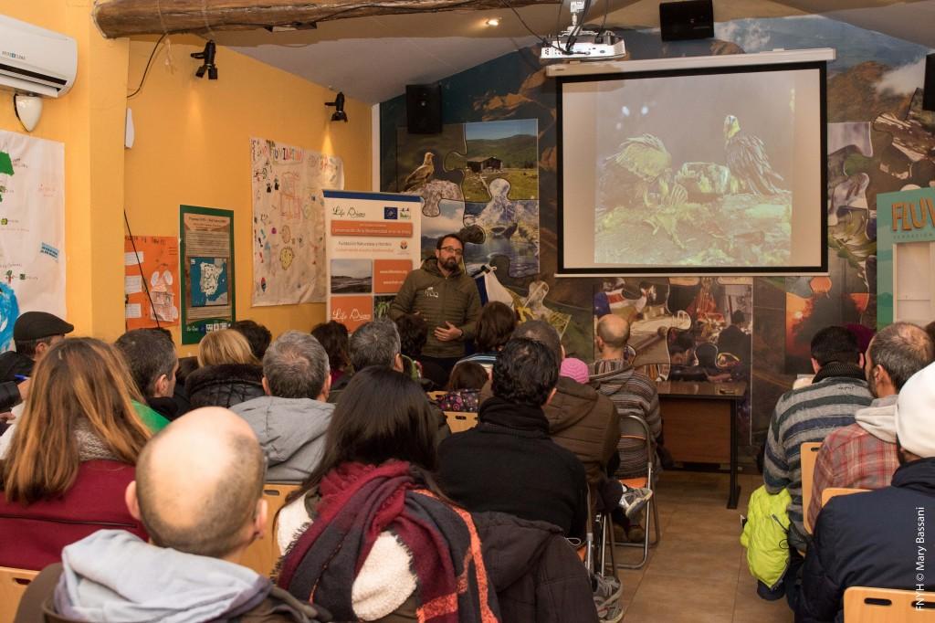 La sala multimedia del ecomuseo Fluviarium de la Montaña y Cuencas Fluviales Pasiegas, se llenó.