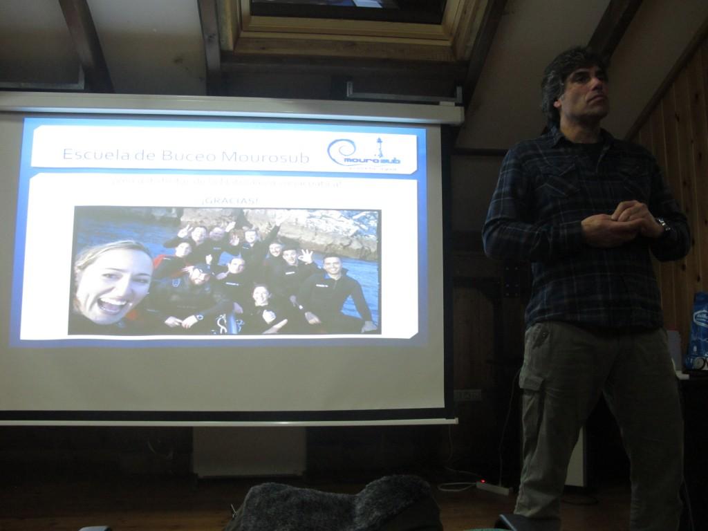 Leo del Rincón durante la charla.