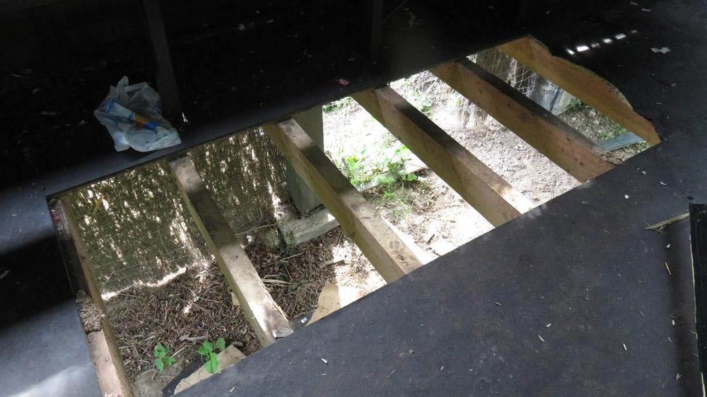 El suelo del observatorio de Alday ha sido arrancado.