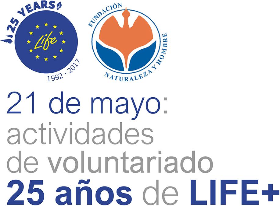 Cabecera del cartel para las actividades de voluntariado por los 25 años de LIFE