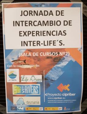 Cartel de la Jornada de intercambio de experiencias Inter-LIFE'S