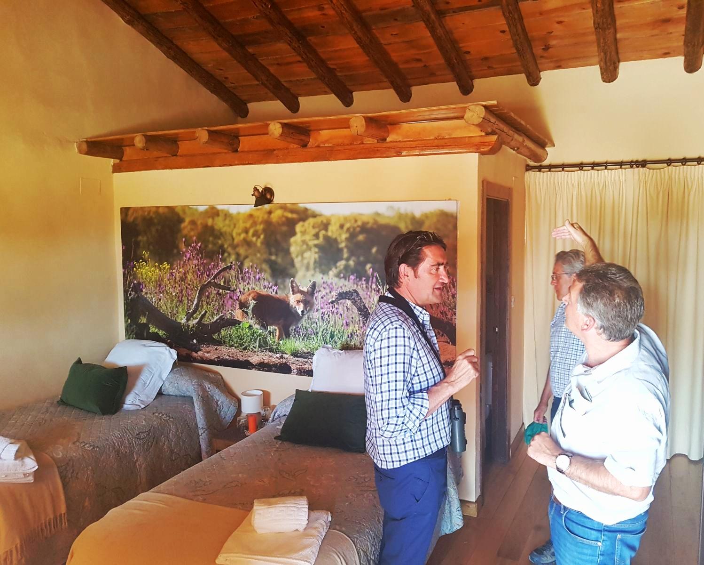 Visita del hotel rural de la Reserva Biológica Campanarios de Azaba