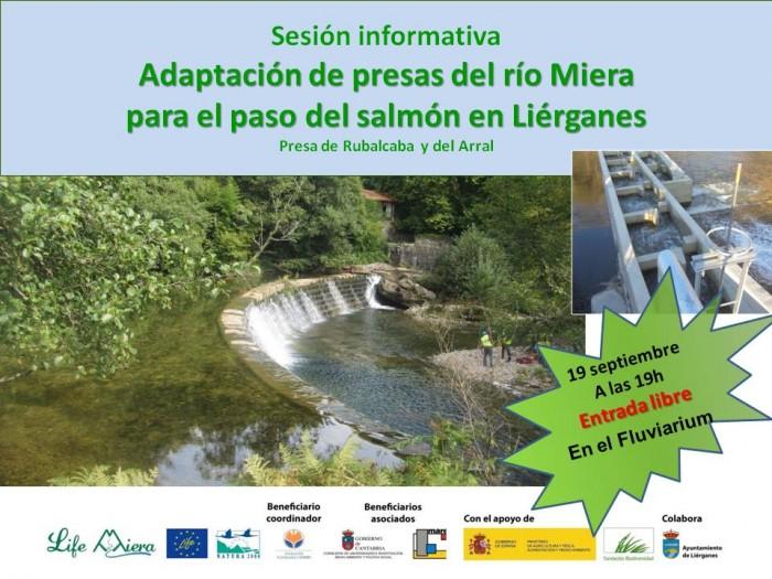Jornada Informativa adaptación de presas del río Miera para el paso del salmón en Liérganes