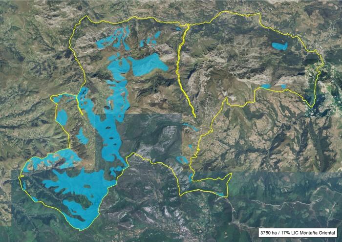17% de la superficie del LIC Montaña Oriental quemada en el invierno 2016-17.