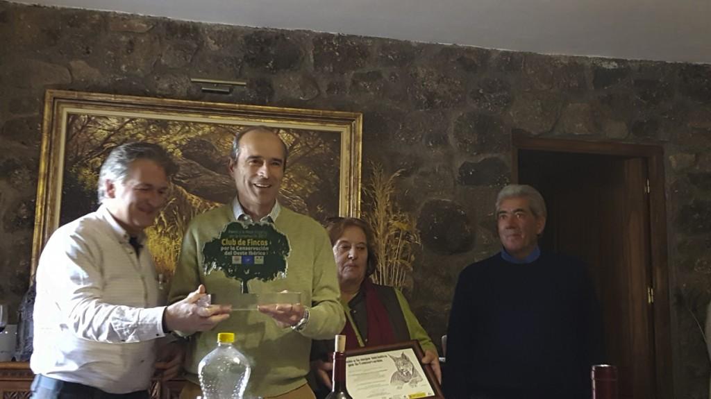 Entrega Premio Club Fincas 2017 a finca Atoquedo en Monfragüe, Cáceres
